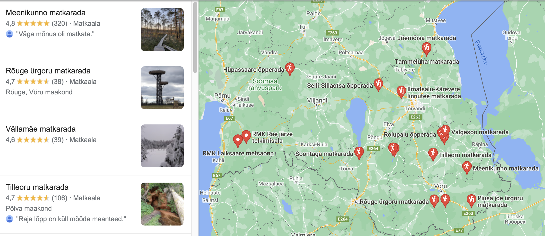 Lõuna-Eesti matkarajad